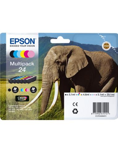 C13T24284011 - Cartouche d'encre originale Epson 6 cartouches d'encre: T2421-T2426