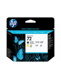 Tête d'impression HP 72 pour traceurs HP DesignJet Série T couleur NOIR MAT ET JAUNE - C9384A