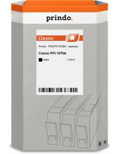 PFI-107bk Cartouche compatible Noire pour traceur CANON 6705B001 - 130ml référence 6705B001