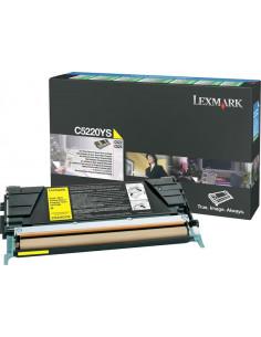 C5220YS - Toner Jaune original Lexmark - 3000 pages
